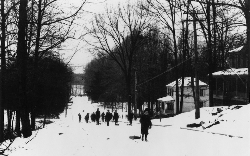 Somerset Sledding Hill in 1920