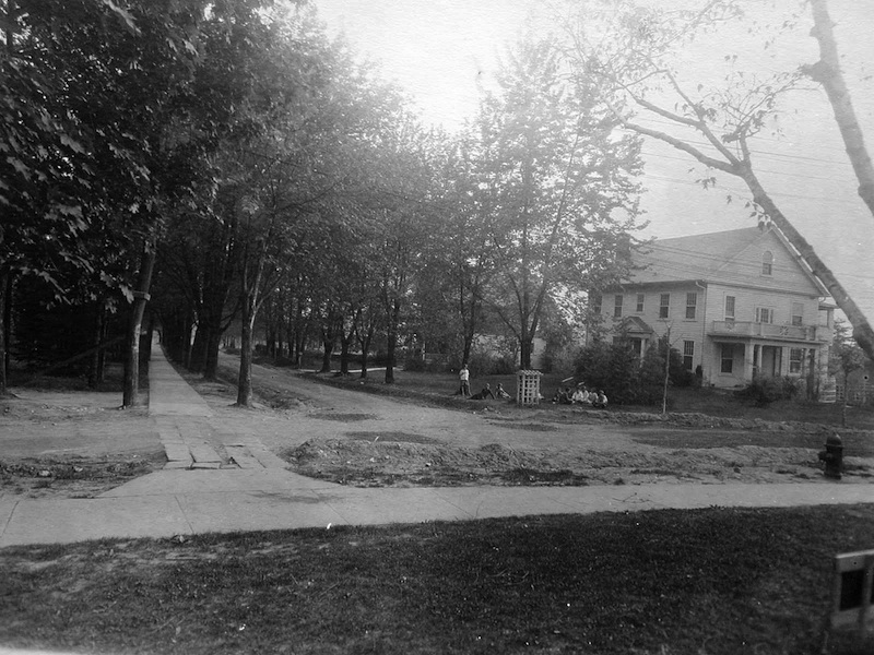 Dorset Avenue looking down Surrey in the 1920s